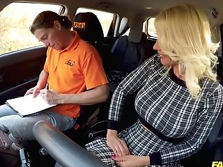 Tiffany Rousso & Ricky Rascal In Hot Blonde Cougar Wants Her Licence - Fakehub