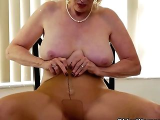 Yankee Granny Phoenix Skye Shows Her Depraved Abilities