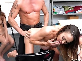 Faux Tittied Stepmom Mckenzie Lee Helps To Her Arrested Stepdaughter
