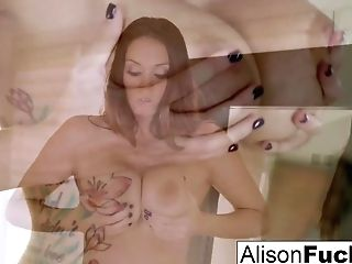 Six Foot Hotty Alison Tyler Stuffs Her Vag With A Equipment