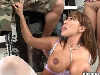 3some Lovemaking With Big-boobed Sex Industry Stars Ava Devine And Diamond Kitty