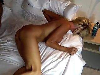 Blonde Bride Was To Horny To Hold Back From Cheating On Her Spouse On The Wedding Night