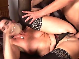 Huge-chested Hairy Mom Brutal Rough Fucked