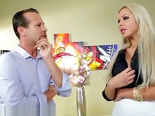 Beautiful Blonde Cougar Nina Elle Sells A Mansion With Her Oral Acrobat Abilities