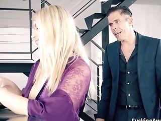 Striking Assistant Helps Her Manager Unload With Mick Blue And Abigail Mac