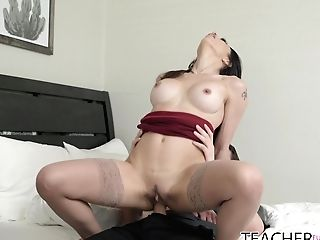 Sexy Educator Eva Lengthy Helps Her Student To Get Rid Of A Boner