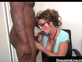 Big-chested Texas Cougar Deauxma Bj's Big Black Man Meat For Tax Loan