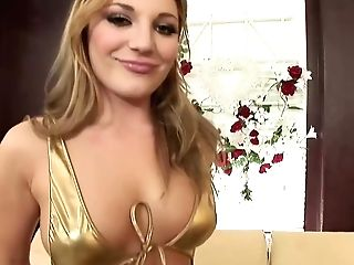 Hot Blonde Cougar Aurora Snow Is Stuffing Her Slit With A Faux-cock And Butt With A Weenie
