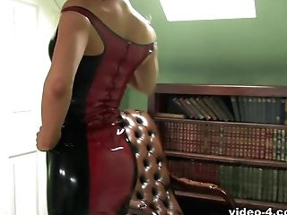 Robyn In Black Crimson Sundress And Stockings - Latexheavenvideo