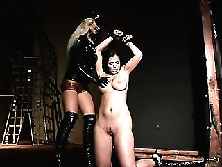 Crucified Awesome Mummy Aria Giovanni Is Worth Some Boobies Rubdown