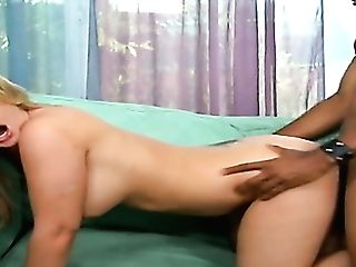 Just Ordinary Looking Blonde Neighbor Saucy Aline Is Totally Into Railing Big Black Cock