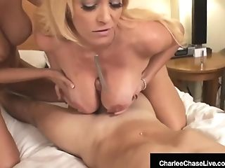 Meatpipe Greedy Charlee Chase & Brooke Tyler Want Boner!