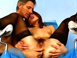 Perverse Gynecologist Fingerfucks Hot Asshole Of Big Butted Dark Haired Sweetie