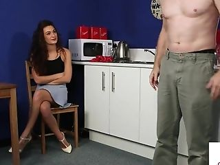 Cfnm Housewife Instructs Boy To Jerkoff