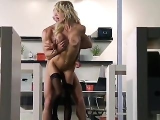 Adorable Buxom Cougar Sarah Jessie Is Sucking My Dick