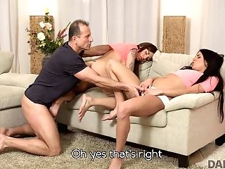 Daddy4k. Mom's Two Daughters-in-law Getting Ultra-kinky In Her Property