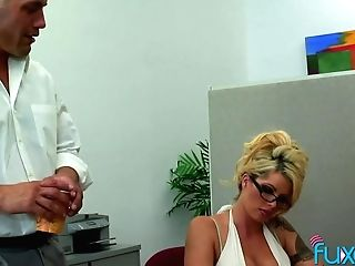 Office Orgy Bomb Claudia Gives A Dt And Gets Her Cunt Tongued And Fucked On The Table