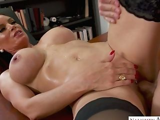 Bodacious Schoolteacher Diamond Foxxx Entices Bad Student And Gives Him A Dt