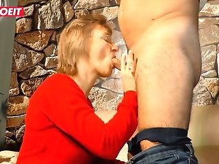 Letsdoeit - German Mummy Has Intense Orgasms With Her Manager