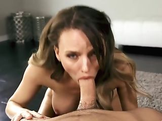 Pristine Edge Is Always Providing An Amazing Blow-job To Her Man, Until He Explodes From Pleasure